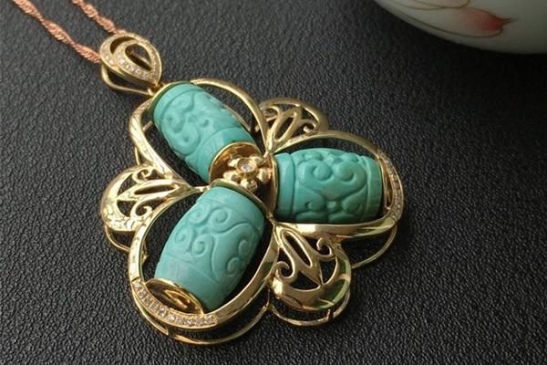 绿松石的分类与价值!什么样的绿松石品质好?绿松石兽珠、吴桥